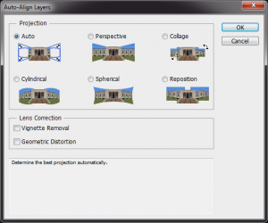 Photographing Roses, Align Layers Dialog
