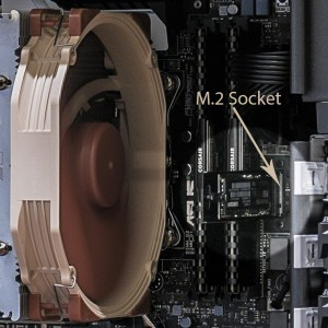M.2 Slot with SSD Card in Place
